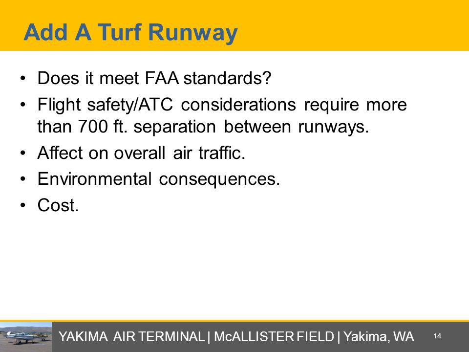 Add A Turf Runway Does it meet FAA standards.