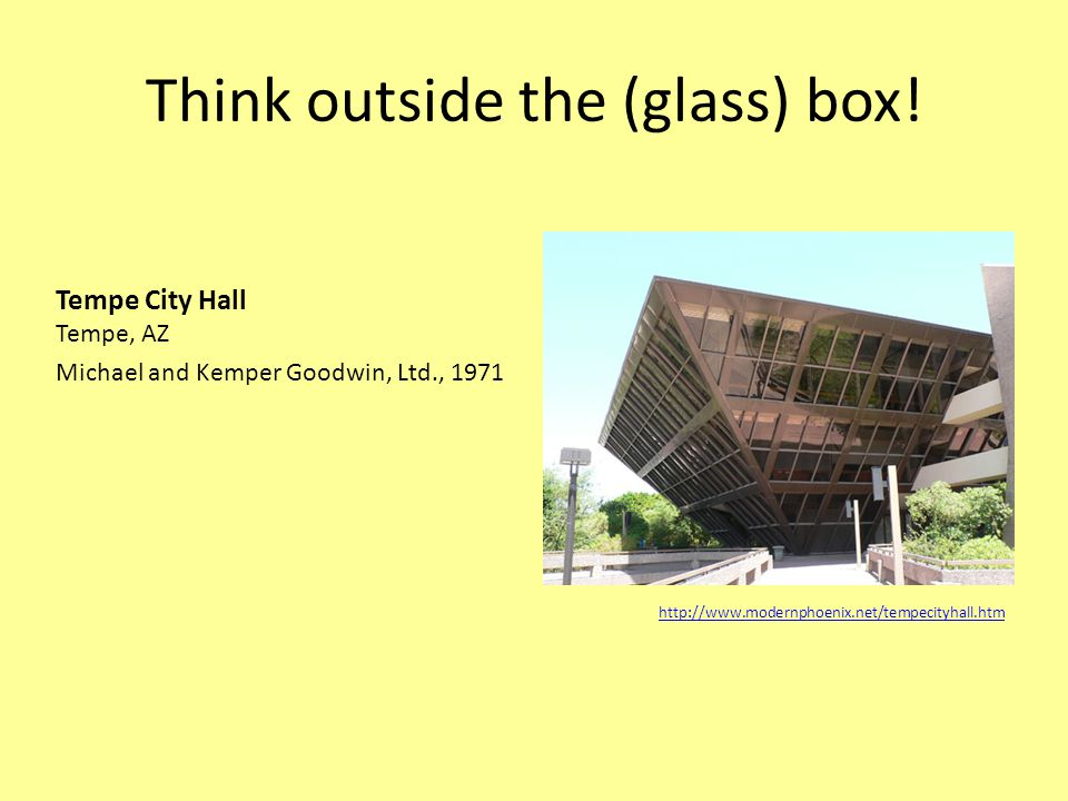 Think outside the (glass) box.