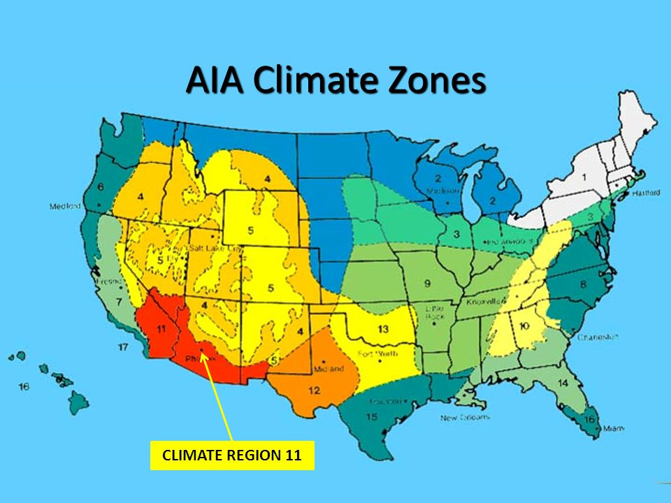 AIA Climate Zones CLIMATE REGION 11