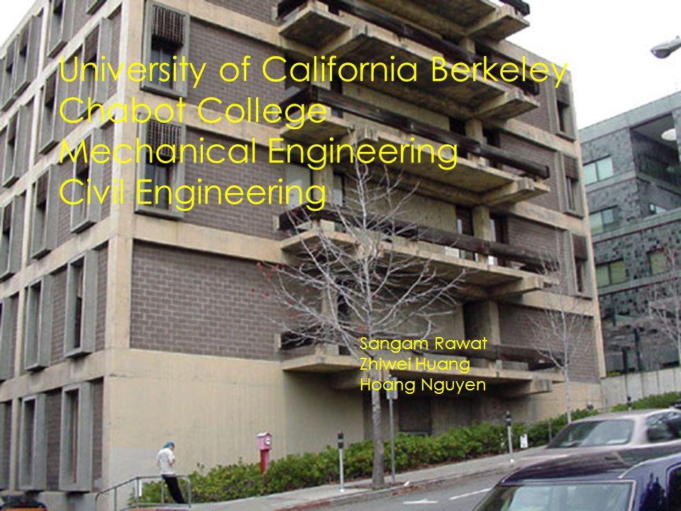 University of California Berkeley Chabot College Mechanical Engineering Civil Engineering Sangam Rawat Zhiwei Huang Hoang Nguyen