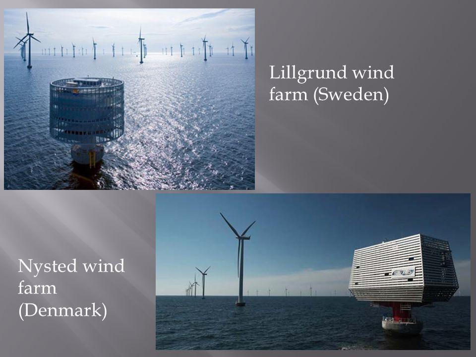 Nysted wind farm (Denmark) Lillgrund wind farm (Sweden)