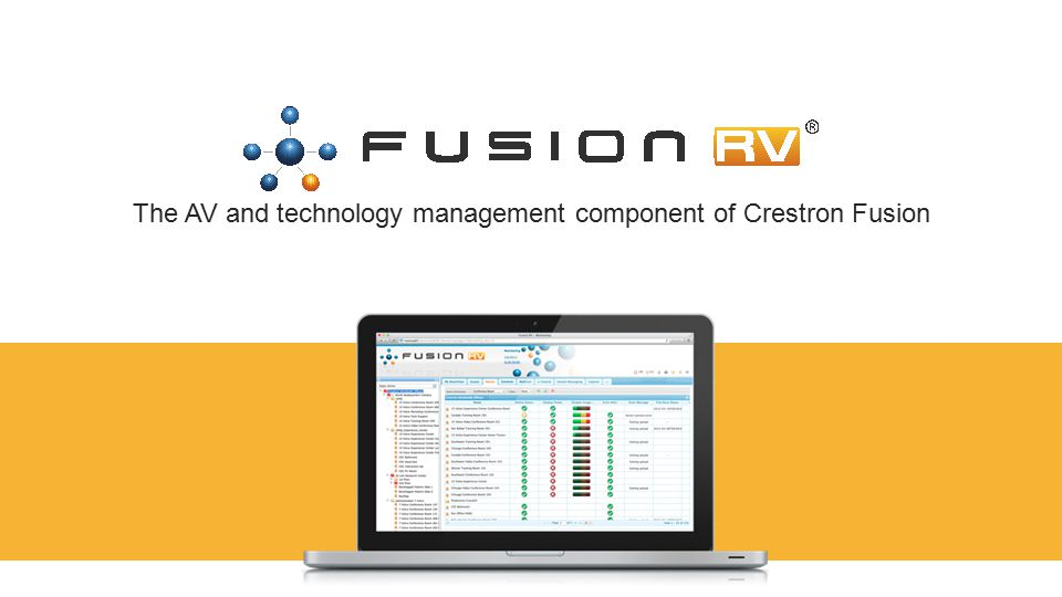 The AV and technology management component of Crestron Fusion