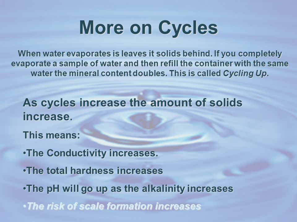 Still More on Cycles In a cooling tower system, evaporation is the main means to remove heat.