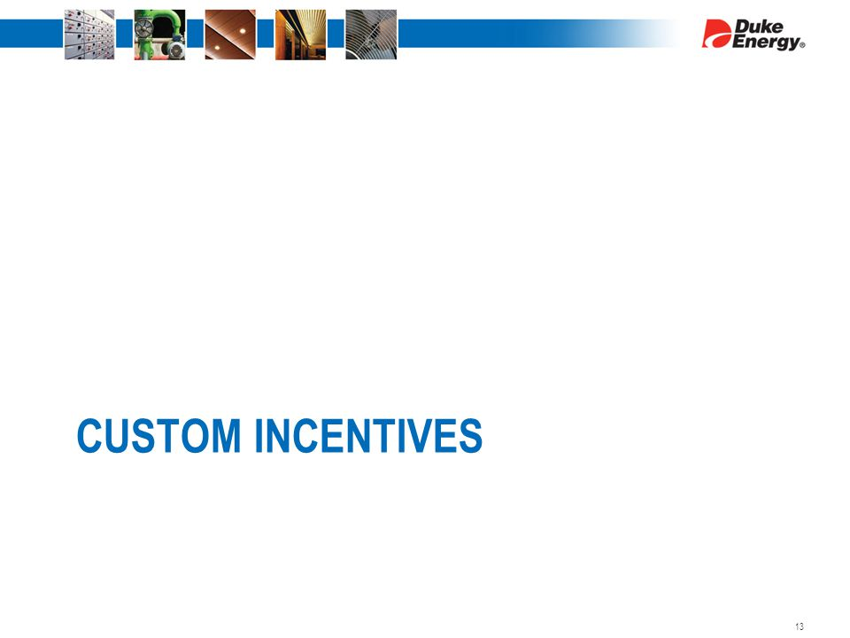CUSTOM INCENTIVES 13