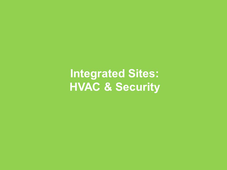 Company Confidential Schneider Electric - Buildings 37 Integrated Sites: HVAC & Security