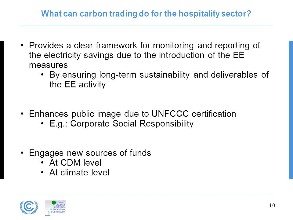 What can carbon trading do for the hospitality sector.