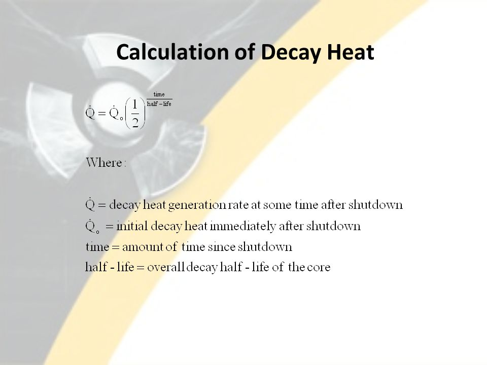 Calculation of Decay Heat