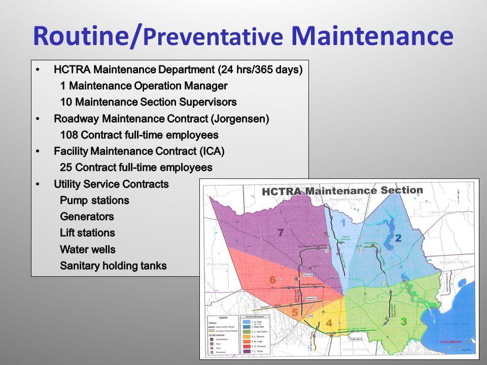 Routine/ Preventative Maintenance