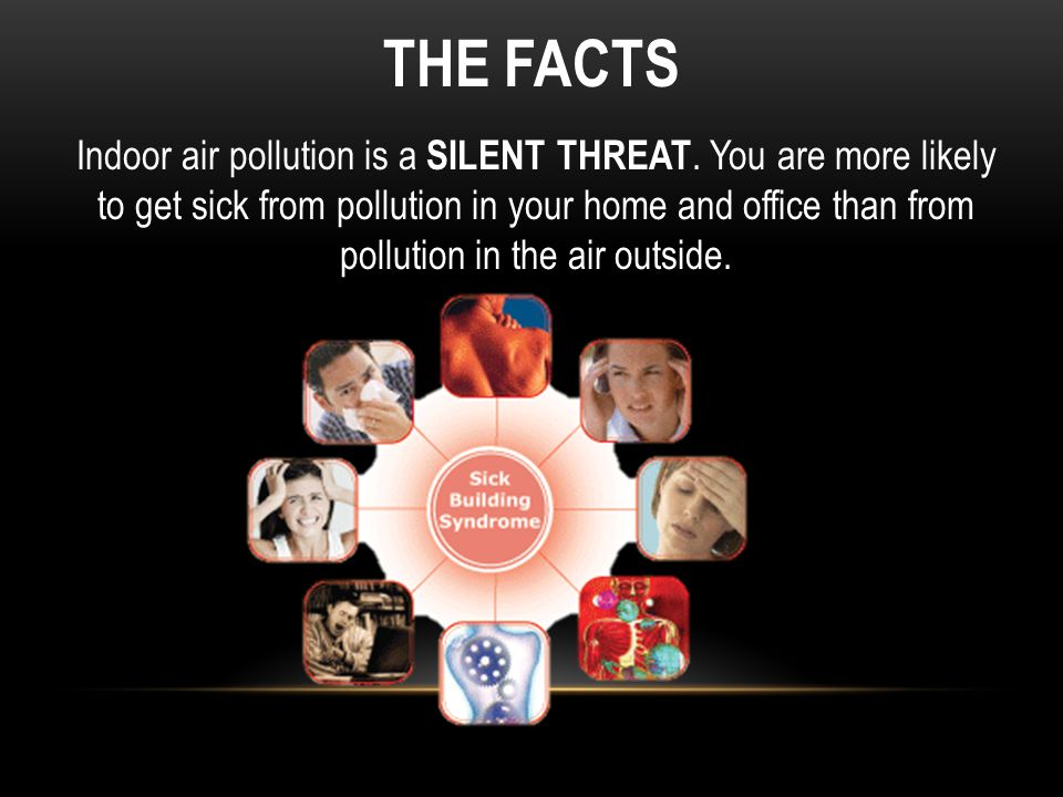 THE FACTS Indoor air pollution is a SILENT THREAT.