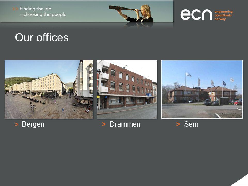 Our offices > Bergen > Drammen> Sem
