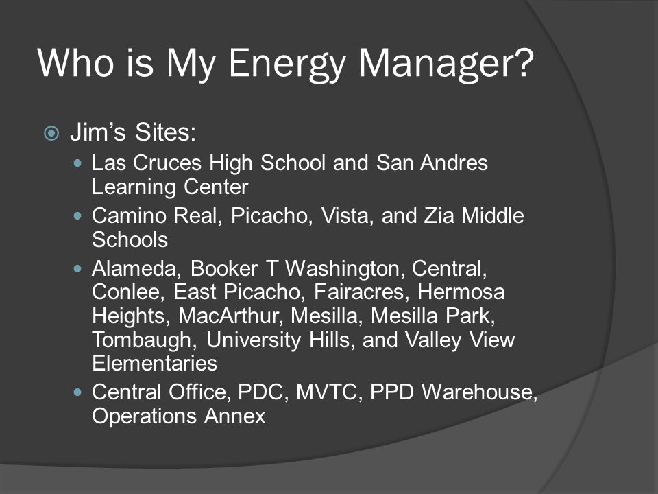 Who is My Energy Manager.