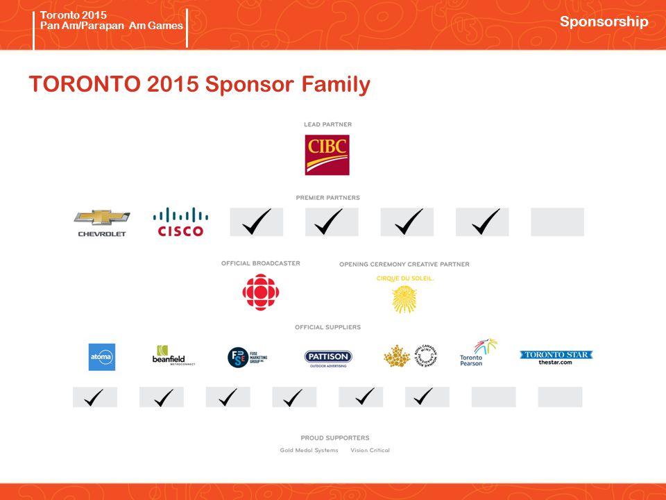 Pan/Parapan Am Toronto 2015 Pan Am/Parapan Am Games TORONTO 2015 Sponsor Family Sponsorship