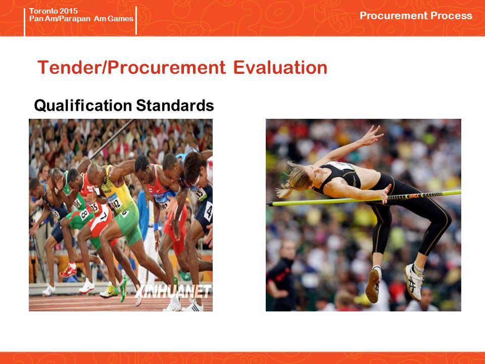 Pan/Parapan Am Toronto 2015 Pan Am/Parapan Am Games Tender/Procurement Evaluation Qualification Standards Procurement Process