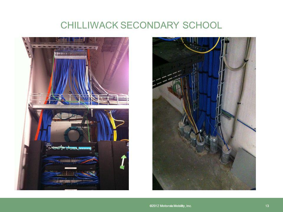 CHILLIWACK SECONDARY SCHOOL ©2012 Motorola Mobility, Inc. 13