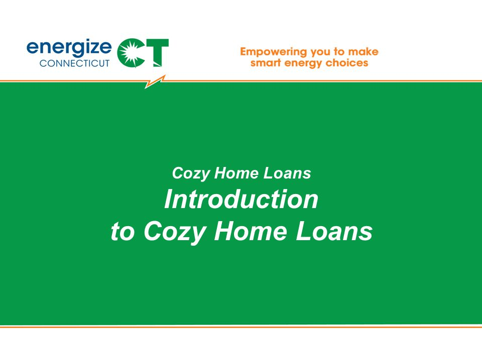 Cozy Home Loans Introduction to Cozy Home Loans