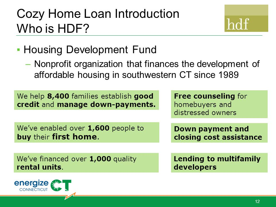 Cozy Home Loan Introduction Who is HDF.