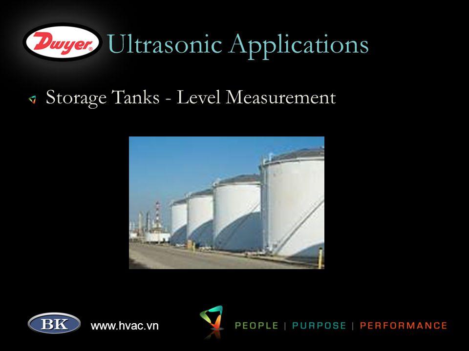www.hvac.vn Ultrasonic Applications Storage Tanks - Level Measurement