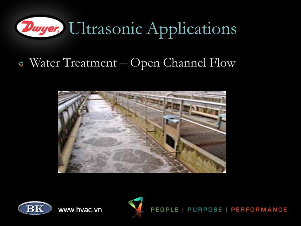 www.hvac.vn Ultrasonic Applications Water Treatment – Open Channel Flow