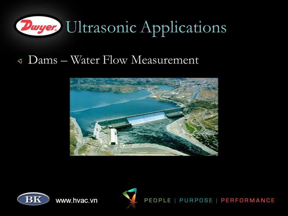 www.hvac.vn Ultrasonic Applications Dams – Water Flow Measurement