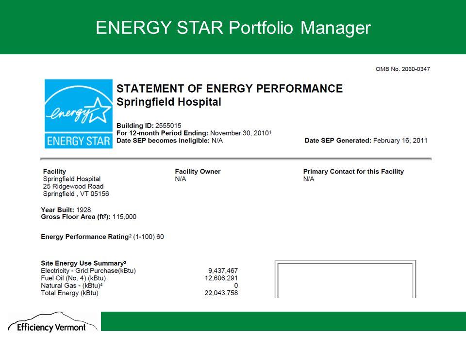 3 We go where the savings are ENERGY STAR Portfolio Manager