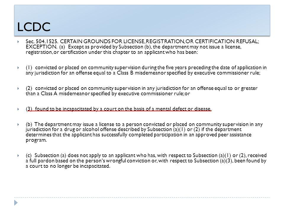 LCDC  Sec. 504.1525.