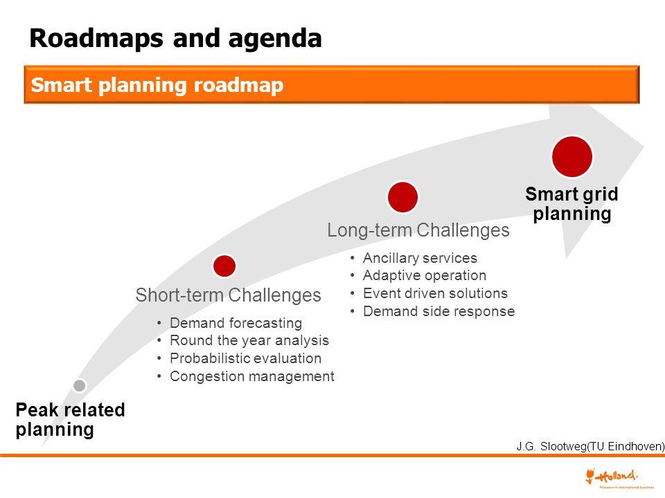Roadmaps and agenda Demand forecasting Round the year analysis Probabilistic evaluation Congestion management Ancillary services Adaptive operation Ev