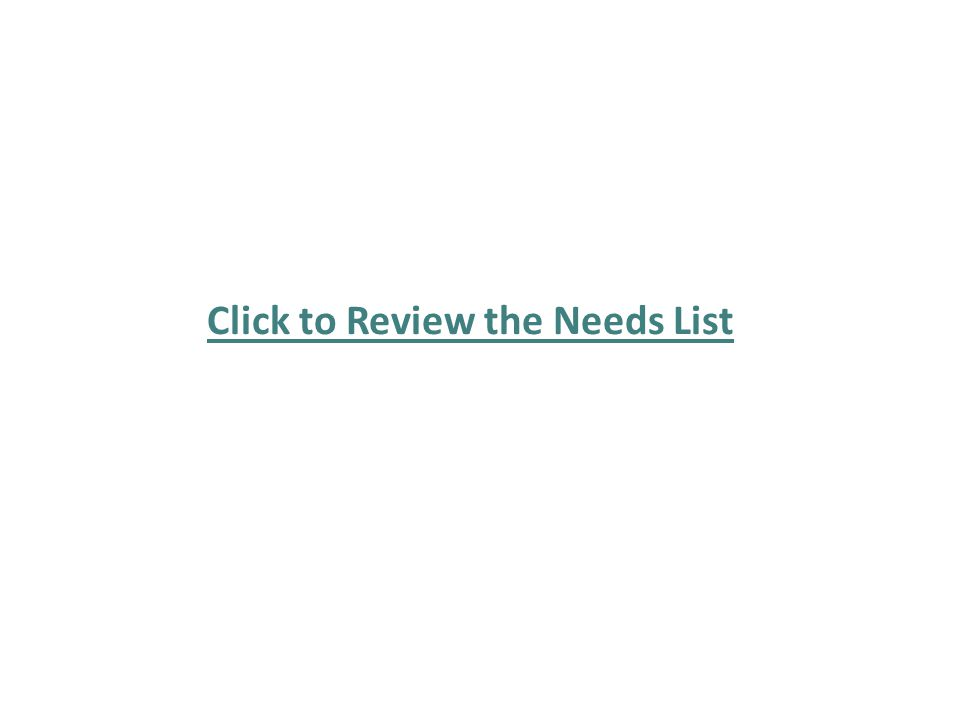Click to Review the Needs List