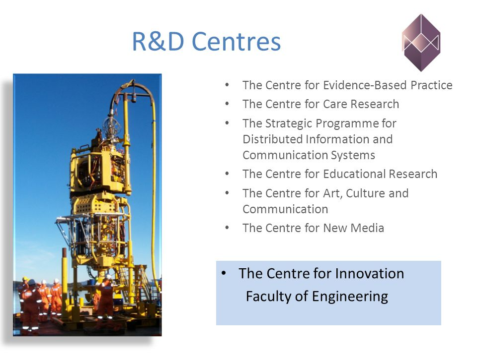 R&D Centres The Centre for Evidence-Based Practice The Centre for Care Research The Strategic Programme for Distributed Information and Communication
