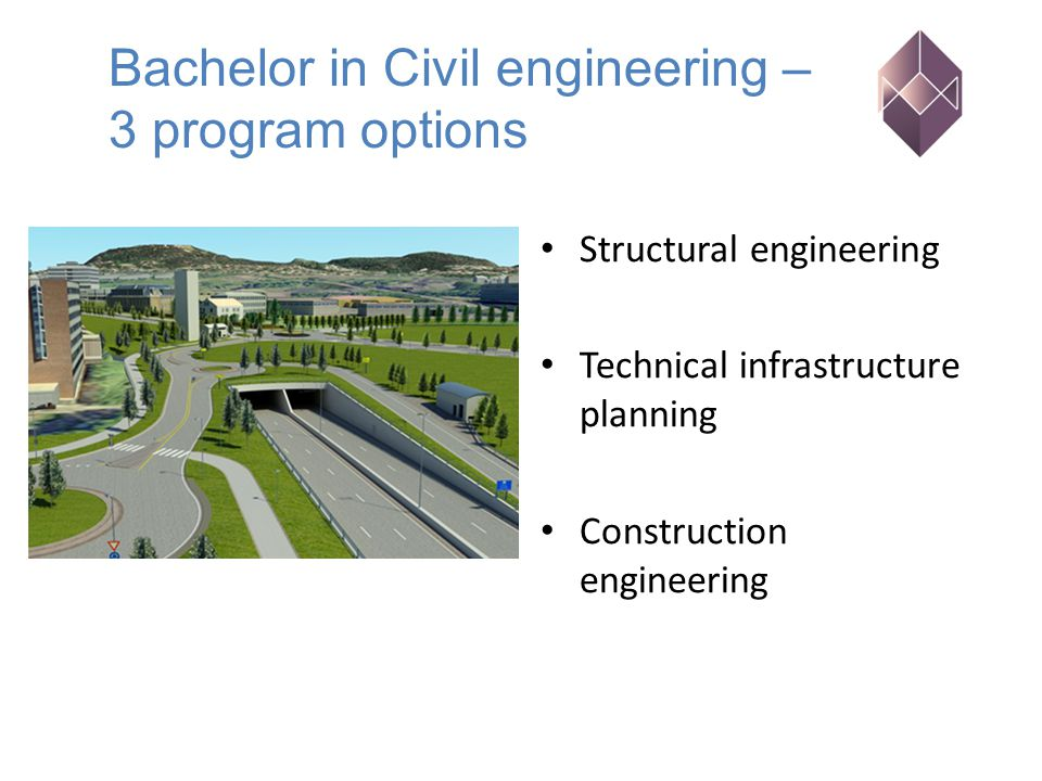 Structural engineering Technical infrastructure planning Construction engineering Bachelor in Civil engineering – 3 program options