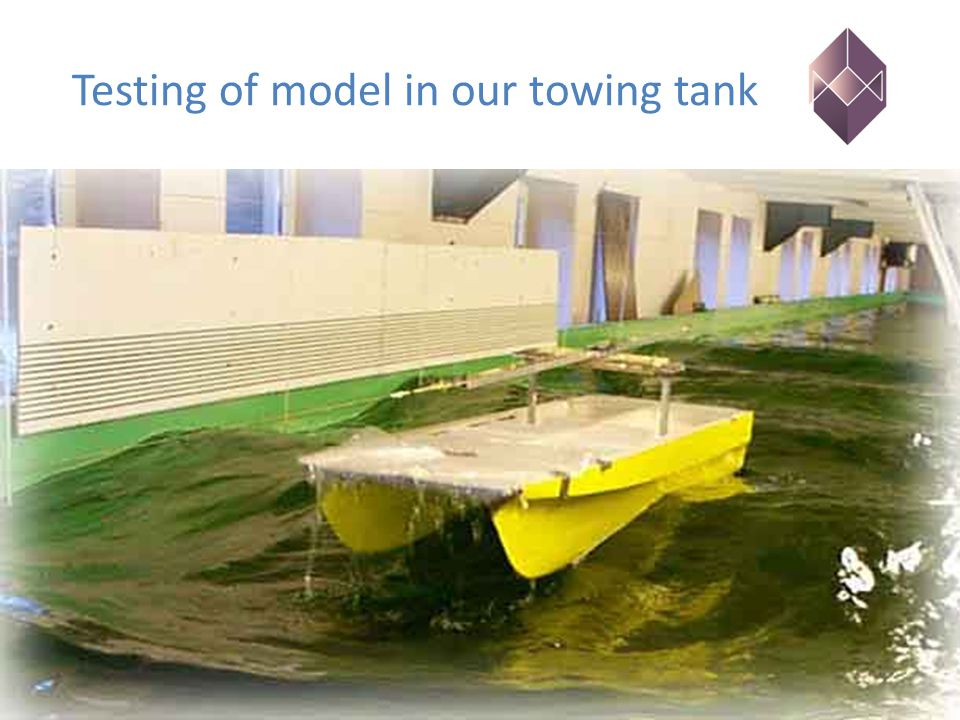 Testing of model in our towing tank