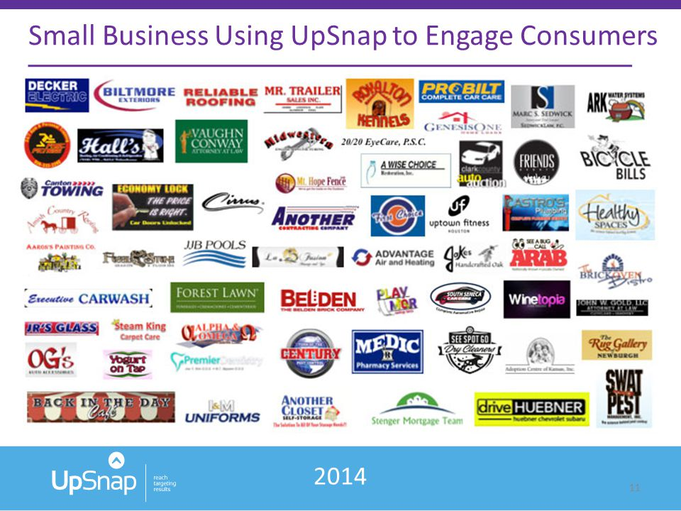 11 Small Business Using UpSnap to Engage Consumers 2014