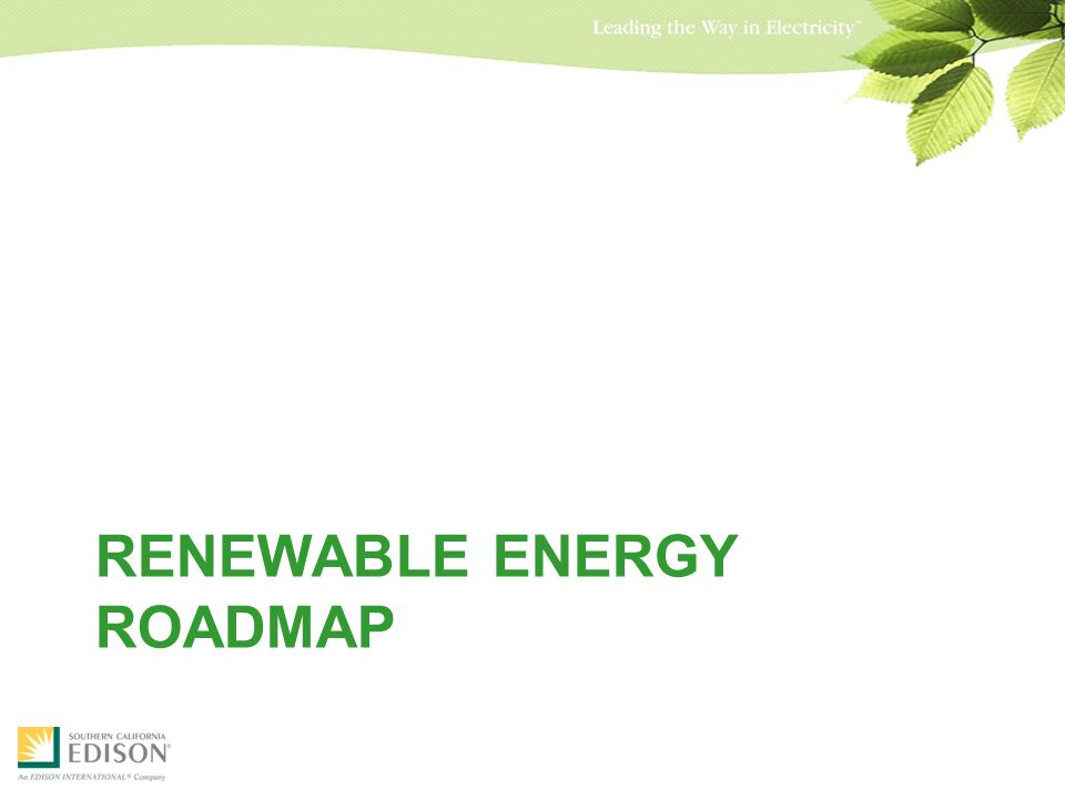 RENEWABLE ENERGY ROADMAP