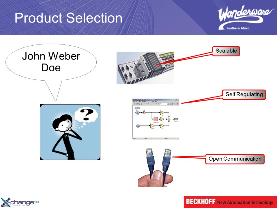 Product Selection John Weber Doe Scalable Self Regulating Open Communication