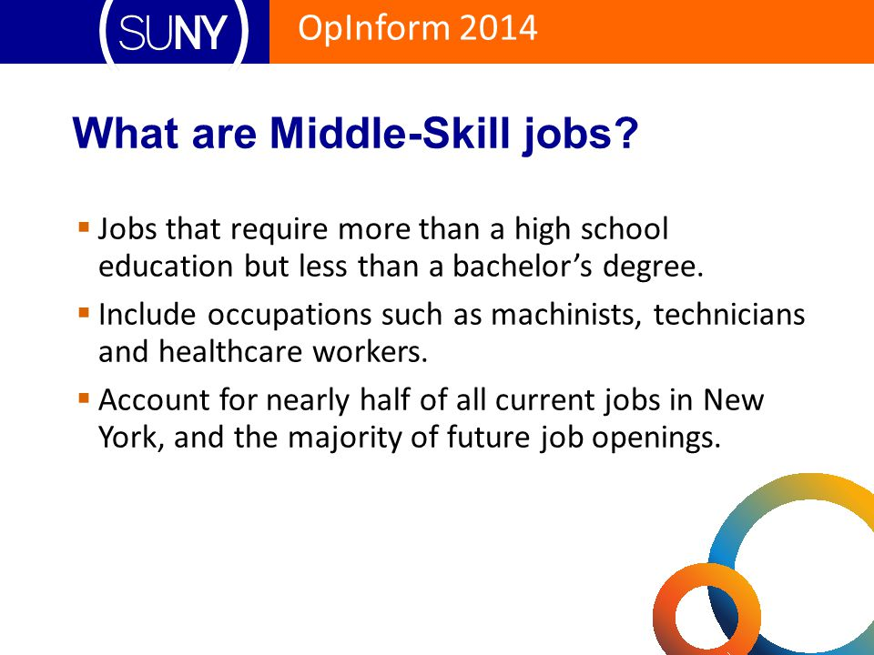 OpInform 2014 The Forgotten Middle  A growing gap between qualified middle-skill employees and middle-skill jobs.