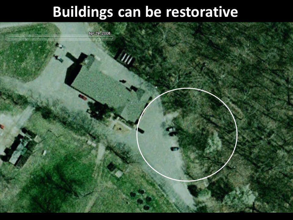 Buildings can be restorative