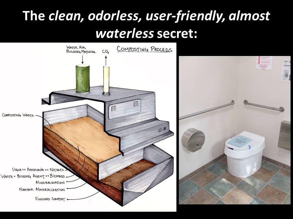 The clean, odorless, user-friendly, almost waterless secret: