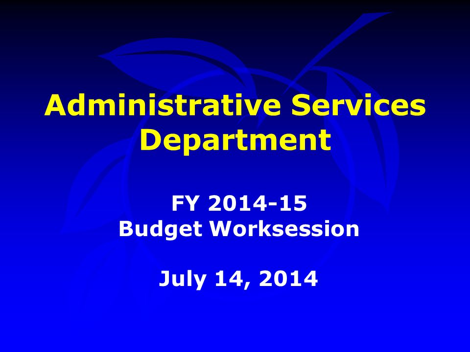 Procurement Division –Managed the Procurement Card Program 53,450 transactions Purchases totaling $16,450,000 Obtained a rebate of $271,469 –Managed Contract Awards totaling $459M –Achievement of Excellence In Procurement (AEP) Award in 2013 –Award for Excellence in Public Procurement in 2014 Accomplishments