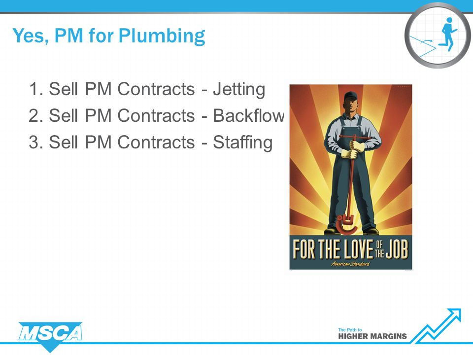 1. Sell PM Contracts - Jetting 2. Sell PM Contracts - Backflow 3.