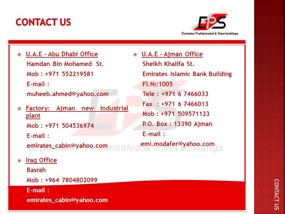  U.A.E – Abu Dhabi Office Hamdan Bin Mohamed St.