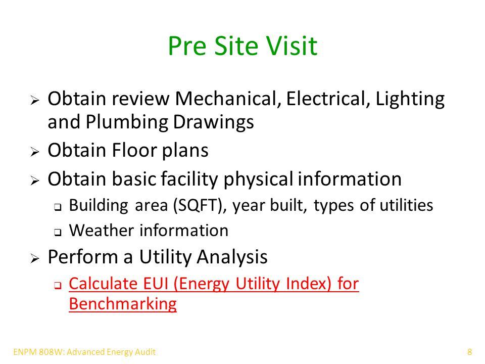 19ENPM 808W: Advanced Energy Audit