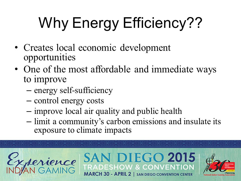 Why Energy Efficiency?.