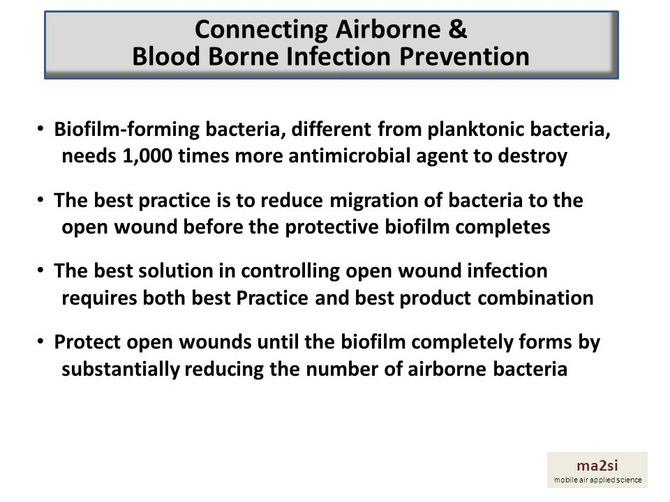 Biofilm-forming bacteria, different from planktonic bacteria, needs 1,000 times more antimicrobial agent to destroy The best practice is to reduce mig