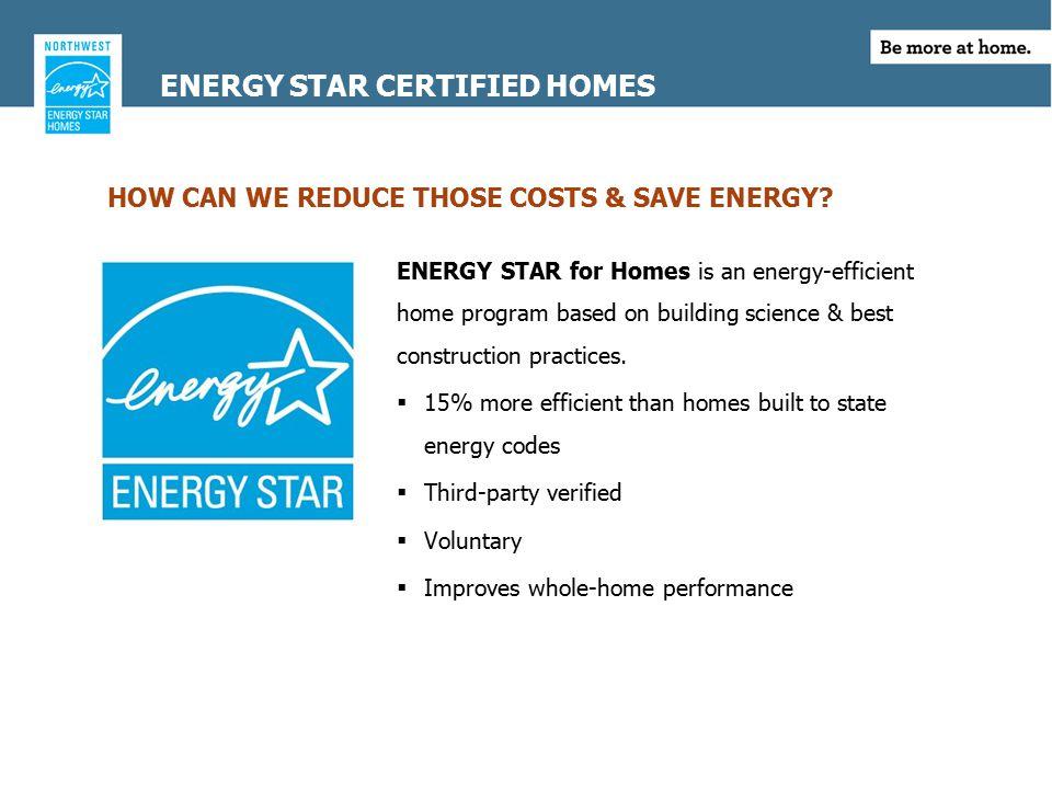 WHY BUILD ENERGY STAR.