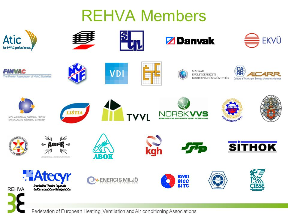 Federation of European Heating, Ventilation and Air-conditioning Associations REHVA Members