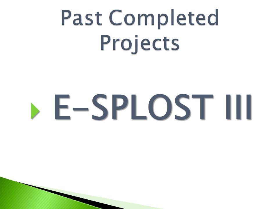  E-SPLOST III