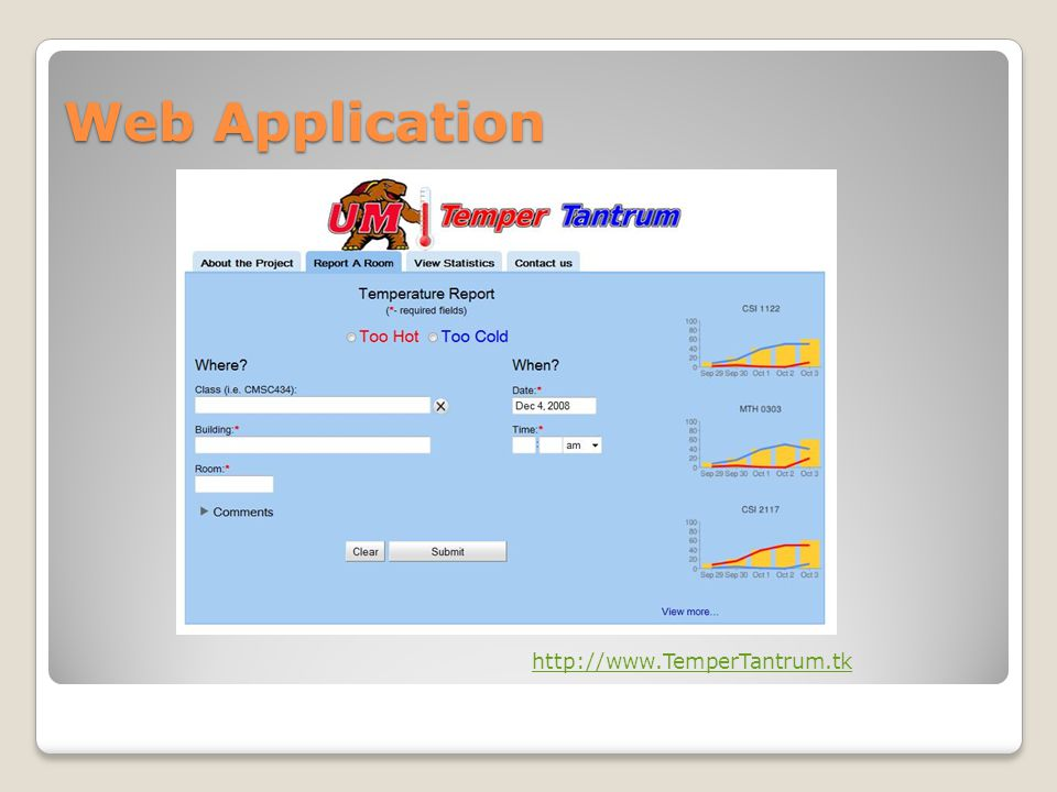 Web Application http://www.TemperTantrum.tk