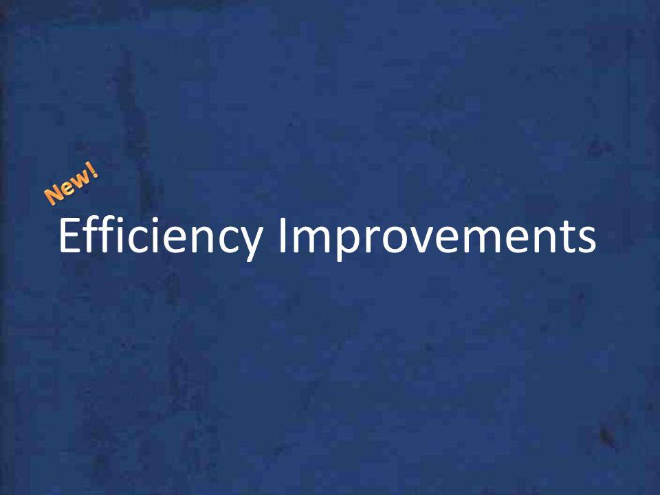 Efficiency Improvements