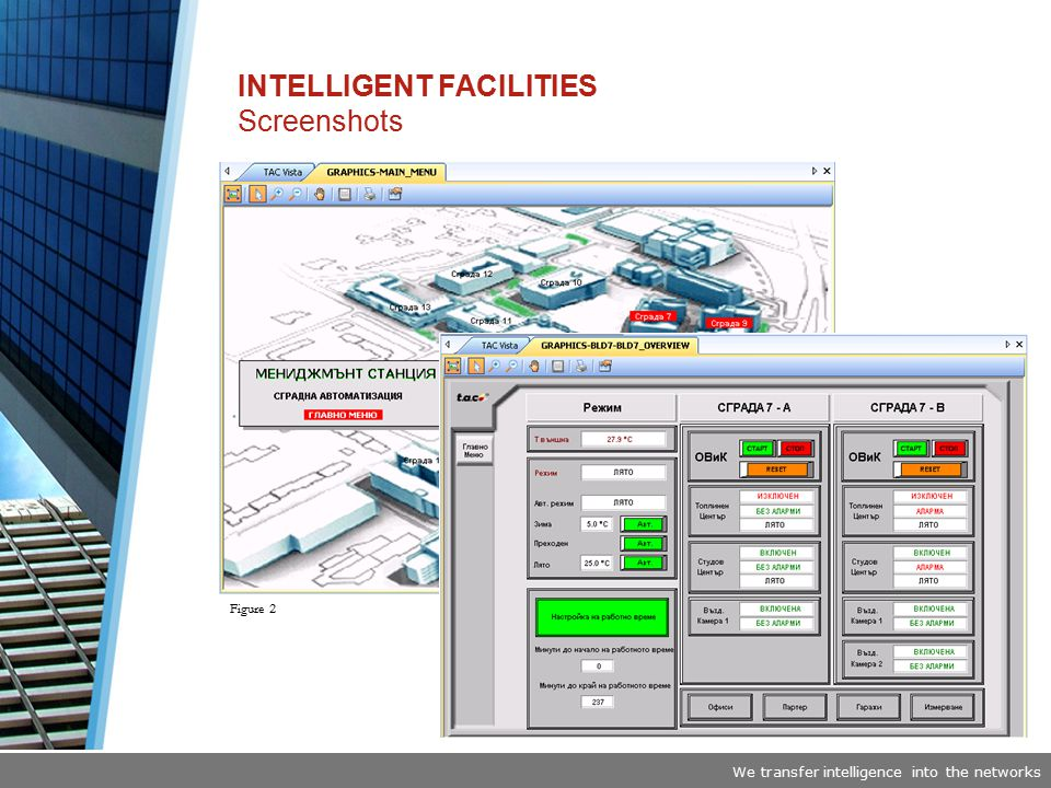 We transfer intelligence into the networks INTELLIGENT FACILITIES Screenshots Figure 2