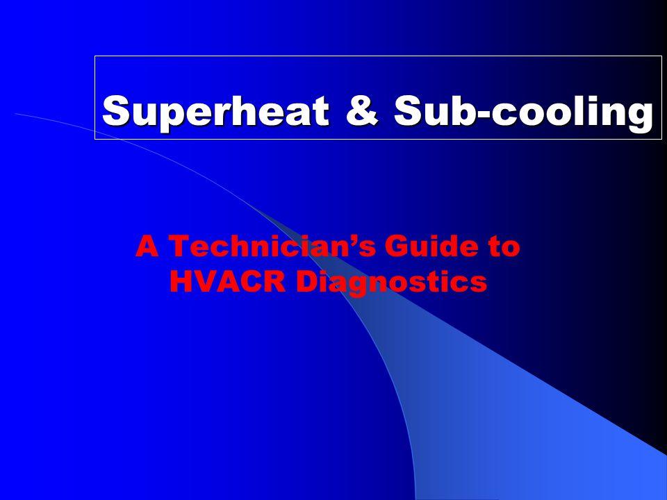 Superheat & Sub-cooling A Technician's Guide to HVACR Diagnostics