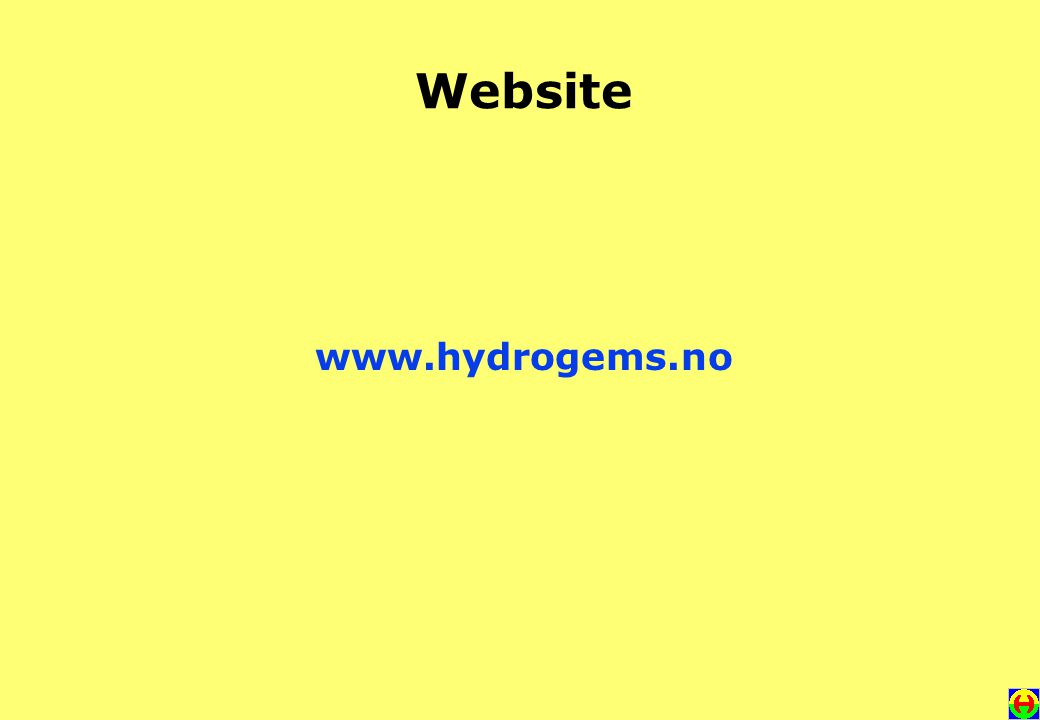 Website www.hydrogems.no